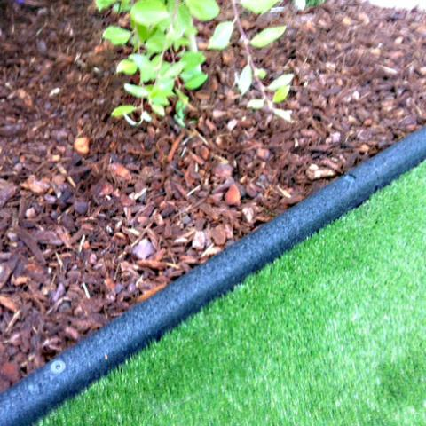Rubber edging shown in use