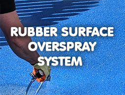 bouncy bond - rubber surface overspray system