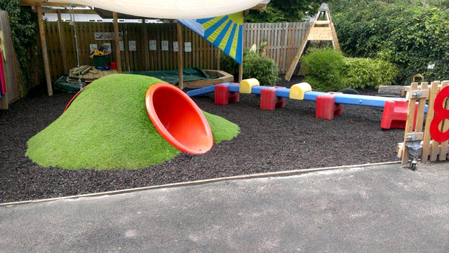 A very safe play area is completed