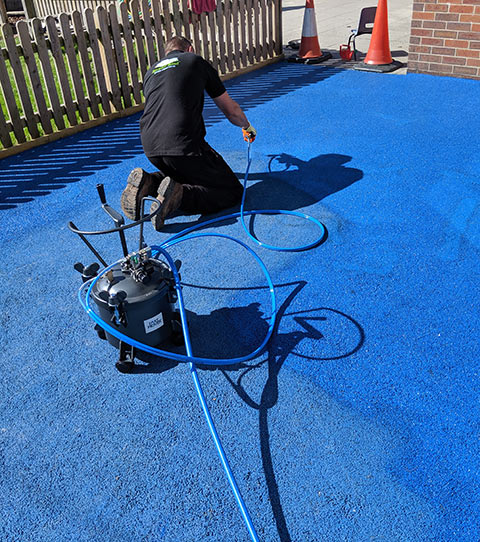 Rubber Surface Overspray System