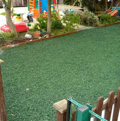 A nursery in Leeds were delighted with our 'loose-fill' application of rubber chippings