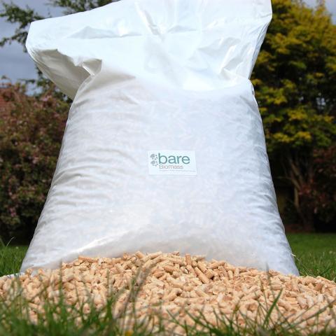 A bag of horse bedding pellets
