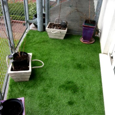 Artificial Grass used on a balcony