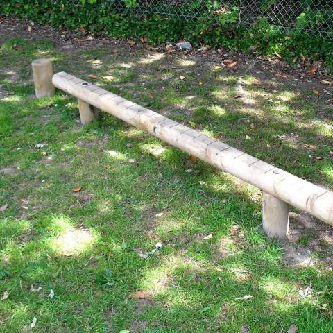 Balance Beam for adventure trails in schools and playgrounds