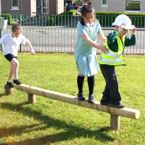 Balance Beam for trim trails in schools and playgrounds