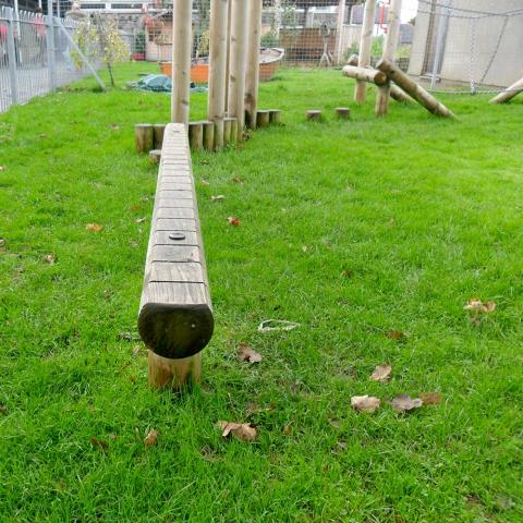 Balance Beam for fun trails in schools and playgrounds