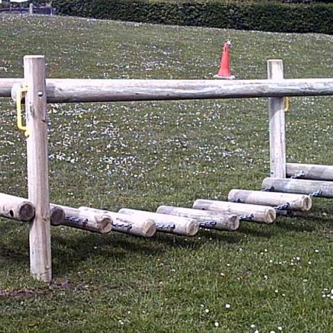Log Bridge for fun trails in schools and playgrounds