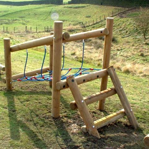 Net Climb - fun on its own or as part of a trim trail in schools and playgrounds