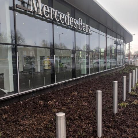 Ornamental Bark installed at a Mercedes Garage