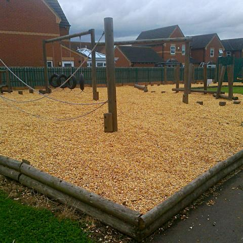 Play Area Softwood Chip supplied to HD Play Equipment