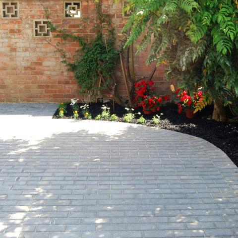 Rubber Chippings blend in well in the garden