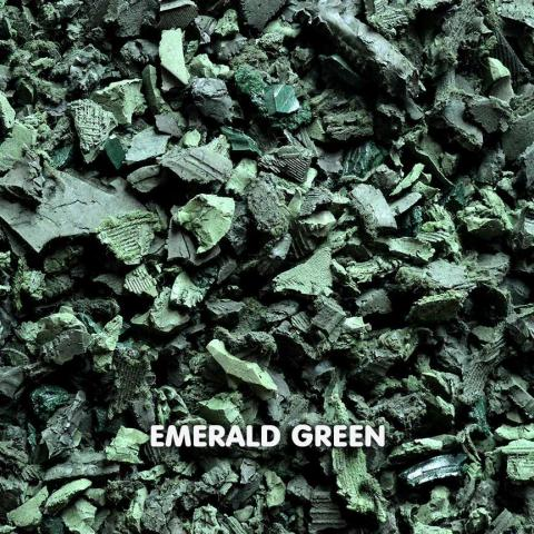 Rubber Chippings Emerald Green