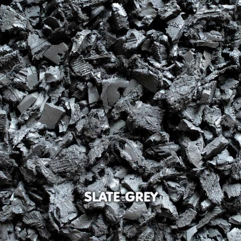 Rubber Chippings Slate Grey