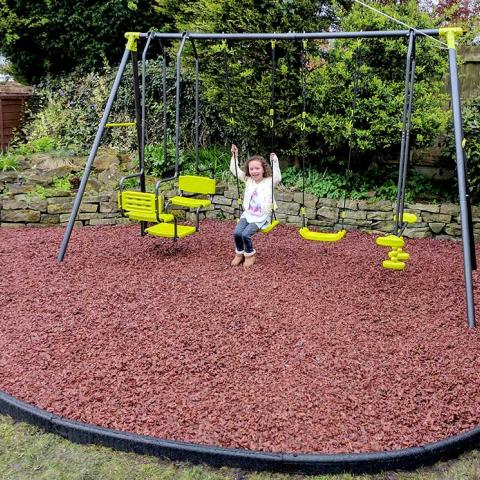 Rubber Chippings with Rubber Border Edging - a happy customer!