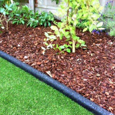 Rubber Border Edging in a garden