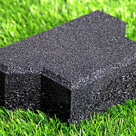 End tile for rubber pavers