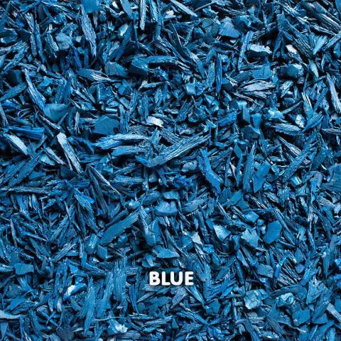 Rubber Mini Mulch Blue