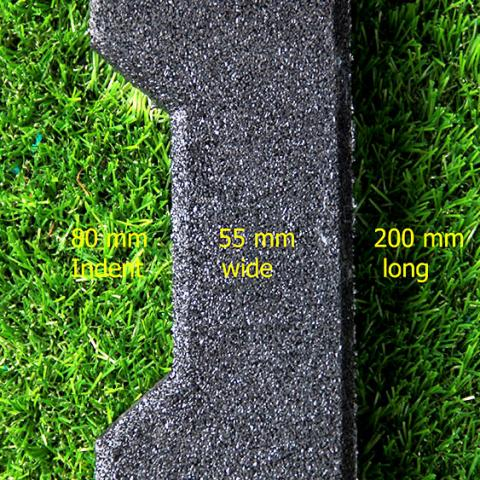 Side paver with dimensions