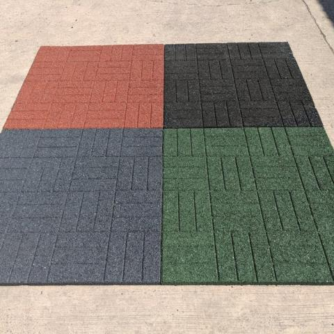 Playground Mats with Brick Effect