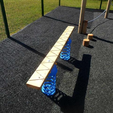 Spring Plank for trim trails and adventure playgrounds
