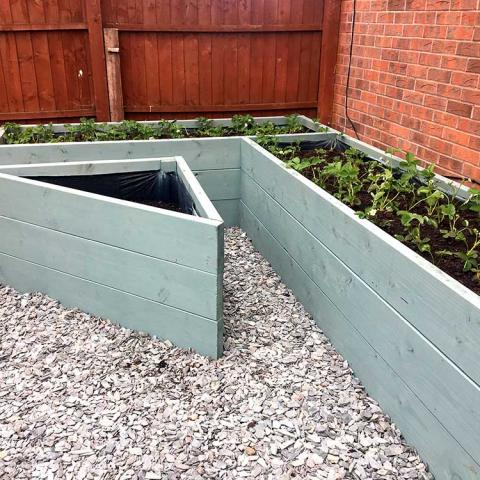'Veggie Topsoil' in a raised bed