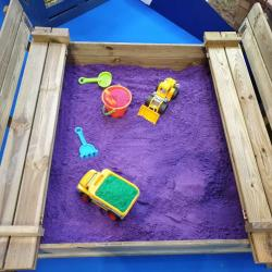 Coloured Playsand Purple insitu