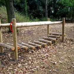 Log Bridge for trim trails in schools and playgrounds