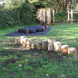 Raise and Fall Logs can be used on their own or as part of a trim trail