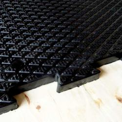 Rubber stable mat for horses