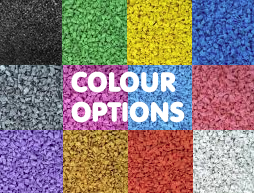 Wet Pour Rubber Bonding Colour Options